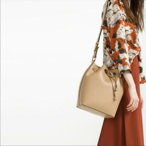 Zara Tan Bucket Bag